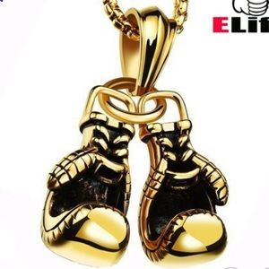 Other - Gold Boxing Gloves Necklace